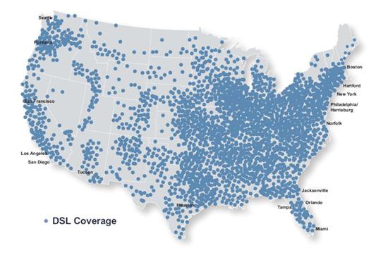 ISP LIST - Internet Service, DSL in, T1,Ethernet,Broadband,Alabama Dsl Coverage Map on